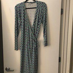 Boden Wrap Dress - Size 6 Long